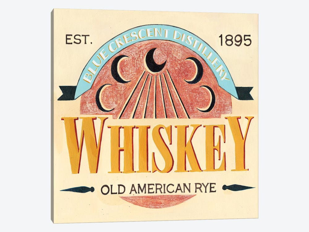 Vintage Liquor Label III by Grace Popp 1-piece Canvas Art Print
