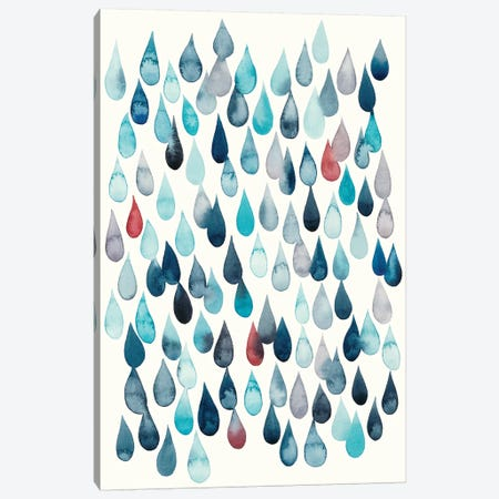 Watercolor Drops I Canvas Print #POP819} by Grace Popp Art Print