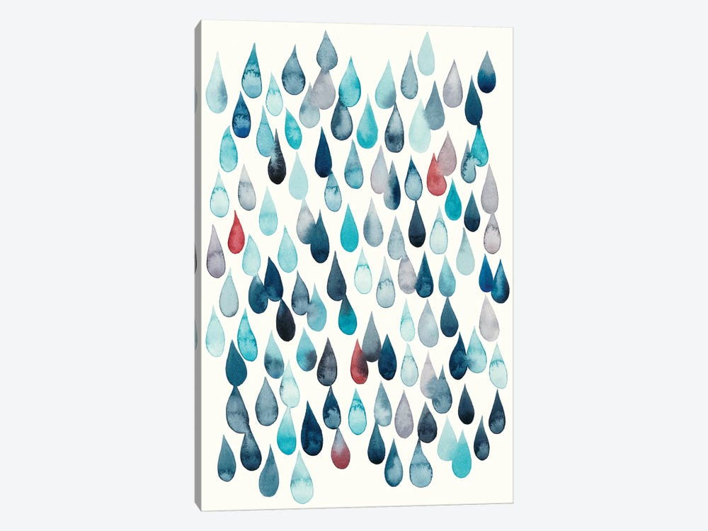 Watercolor Drops I by Grace Popp 1-piece Canvas Print