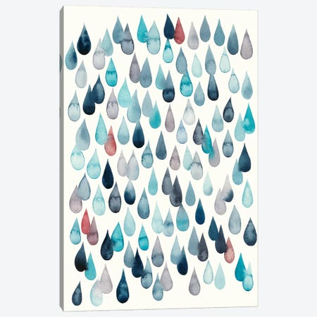 Watercolor Drops II Canvas Print #POP820} by Grace Popp Canvas Wall Art