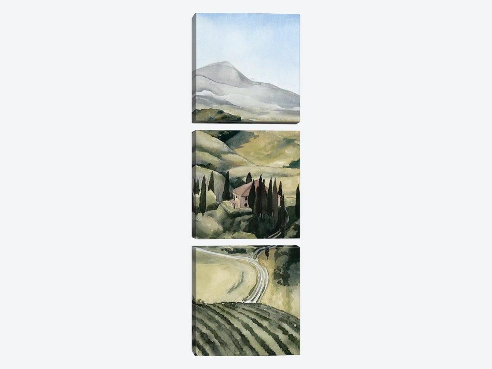 Watercolor Tuscany I by Grace Popp 3-piece Canvas Artwork