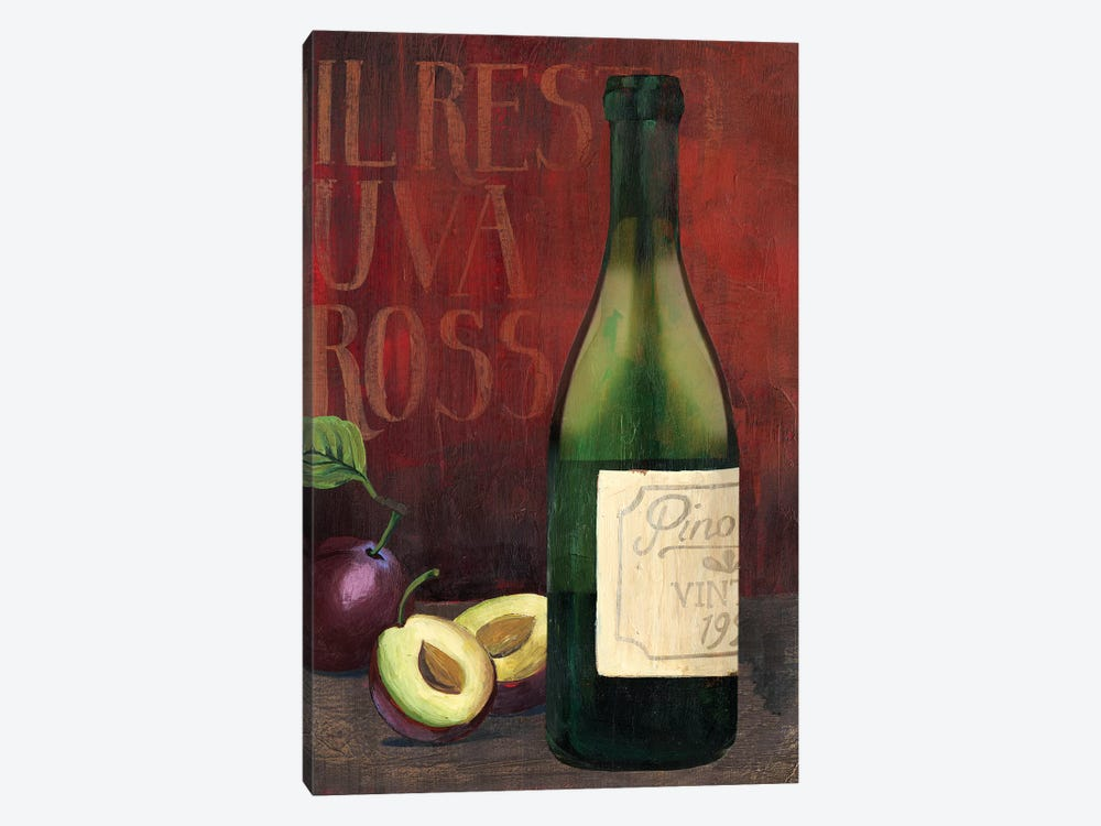 Wine Still Life II by Grace Popp 1-piece Canvas Artwork