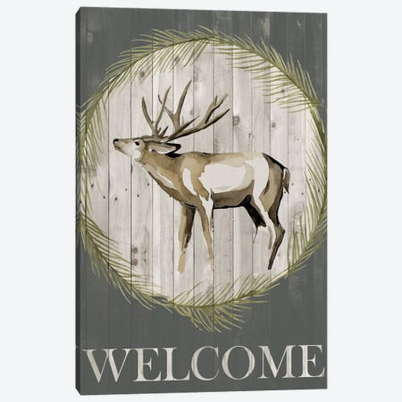 Woodland Welcome I Canvas Print #POP835} by Grace Popp Canvas Art