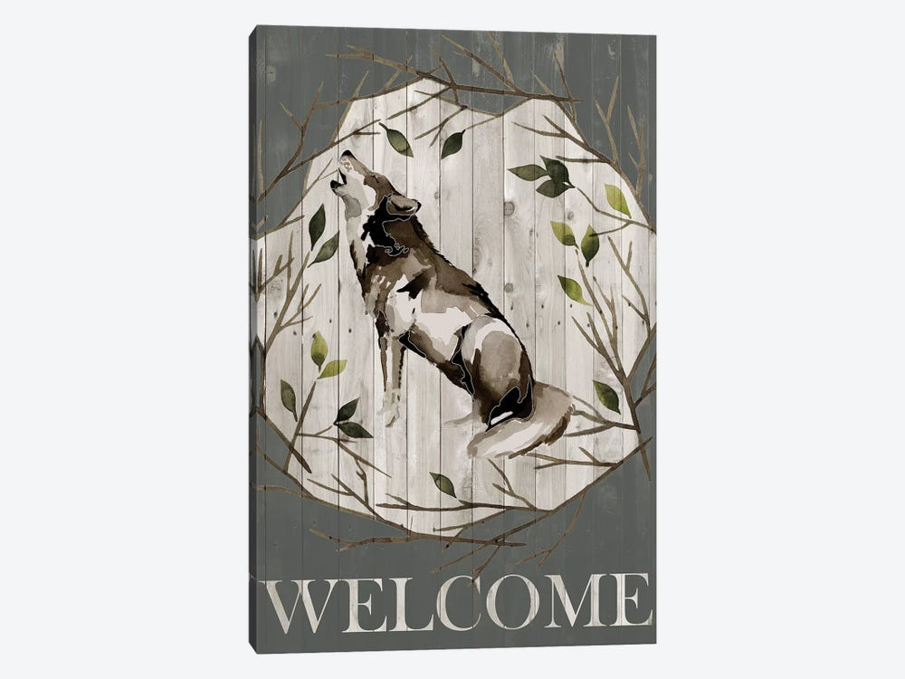 Woodland Welcome II 1-piece Canvas Wall Art