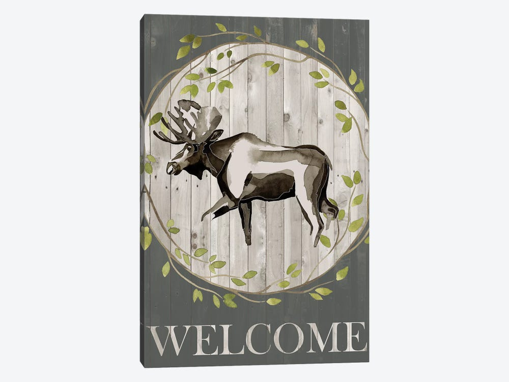 Woodland Welcome IV by Grace Popp 1-piece Canvas Art