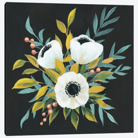 Anemone Posy I Canvas Print #POP841} by Grace Popp Canvas Artwork