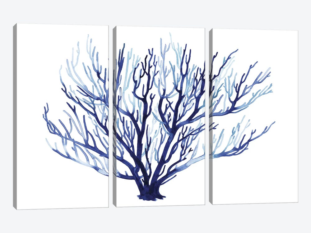 Azure Fan I by Grace Popp 3-piece Canvas Art