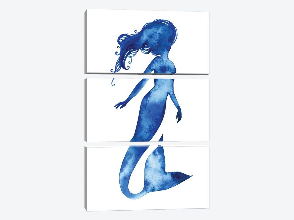 Blue Sirena II by Grace Popp 3-piece Canvas Wall Art