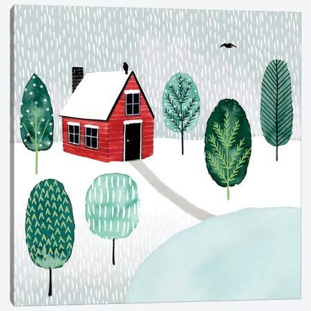 Christmastown I Canvas Print #POP856} by Grace Popp Canvas Wall Art