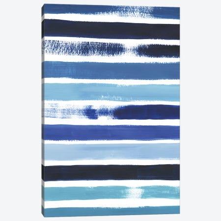 Cobalt Strokes I 3-Piece Canvas #POP858} by Grace Popp Canvas Art Print