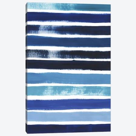 Cobalt Strokes II 3-Piece Canvas #POP859} by Grace Popp Canvas Print