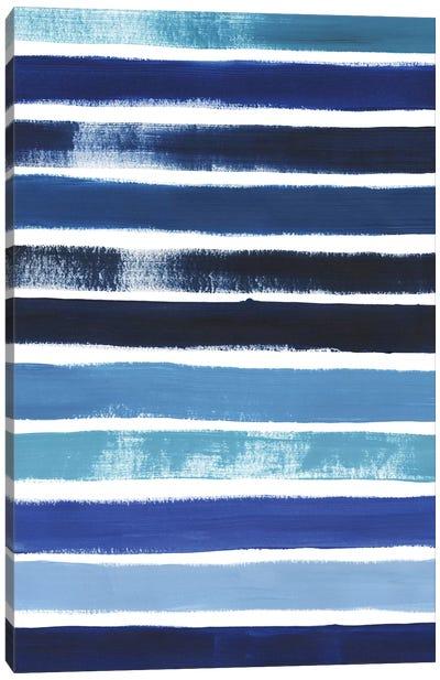 Cobalt Strokes II Canvas Art Print