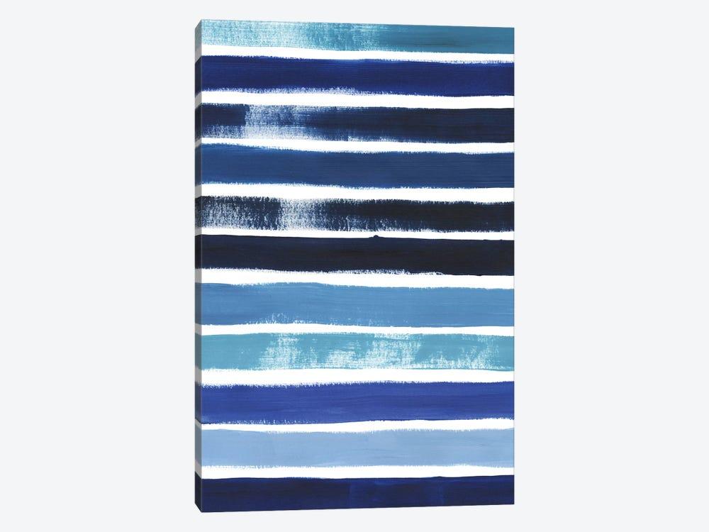 Cobalt Strokes II by Grace Popp 1-piece Canvas Art Print