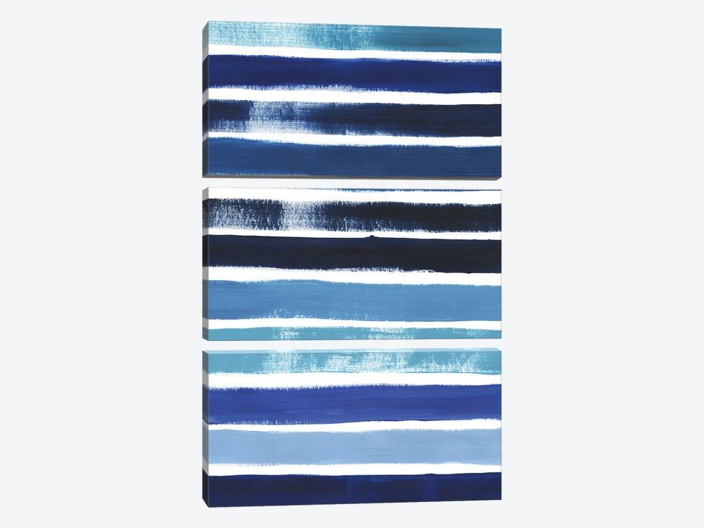 Cobalt Strokes II by Grace Popp 3-piece Art Print