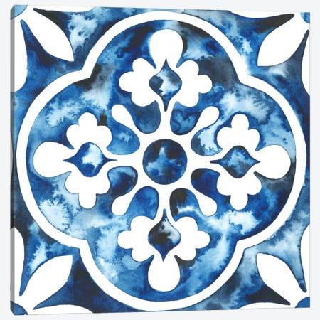 Cobalt Tile I Canvas Print #POP860} by Grace Popp Canvas Art