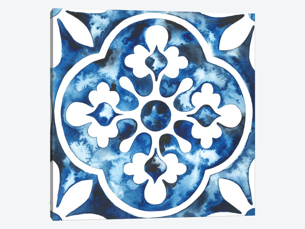 Cobalt Tile I by Grace Popp 1-piece Art Print
