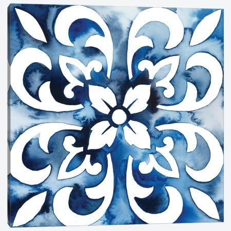 Cobalt Tile II Canvas Print #POP861} by Grace Popp Canvas Wall Art
