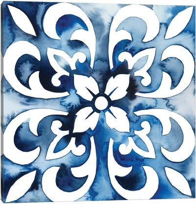 Cobalt Tile II Canvas Art Print
