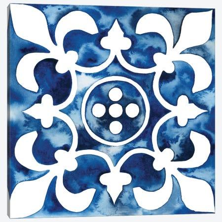 Cobalt Tile III Canvas Print #POP862} by Grace Popp Canvas Art