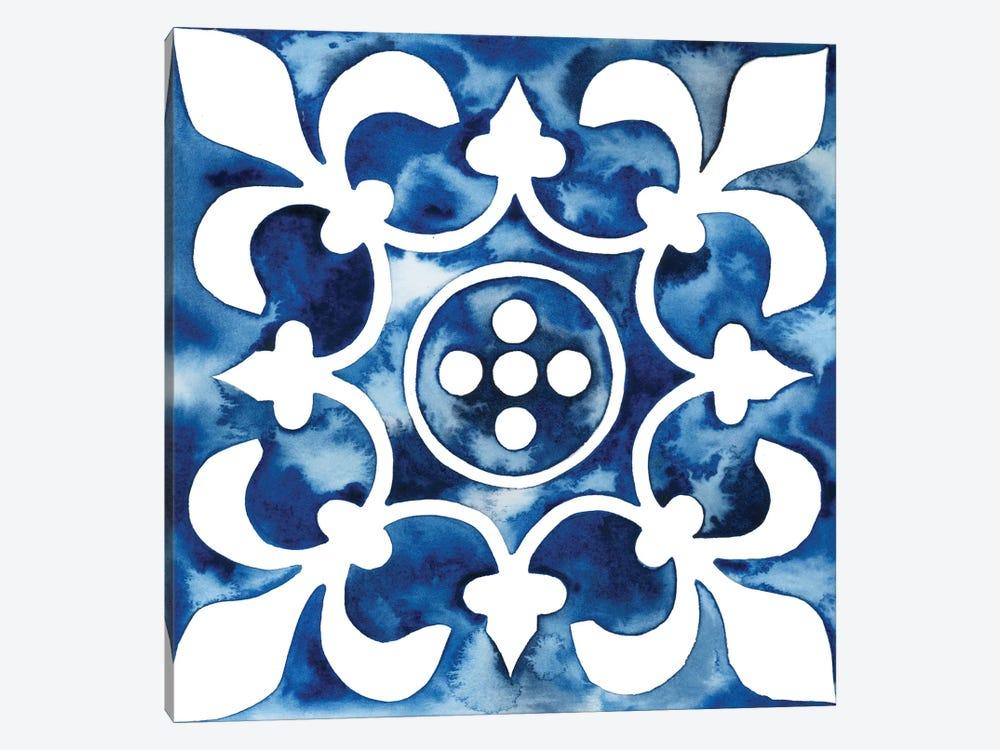 Cobalt Tile III by Grace Popp 1-piece Canvas Art Print