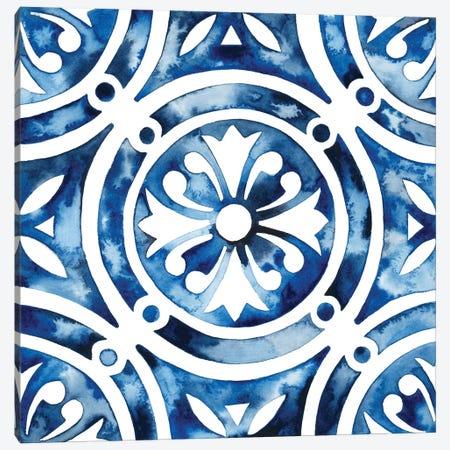 Cobalt Tile IV Canvas Print #POP863} by Grace Popp Canvas Art
