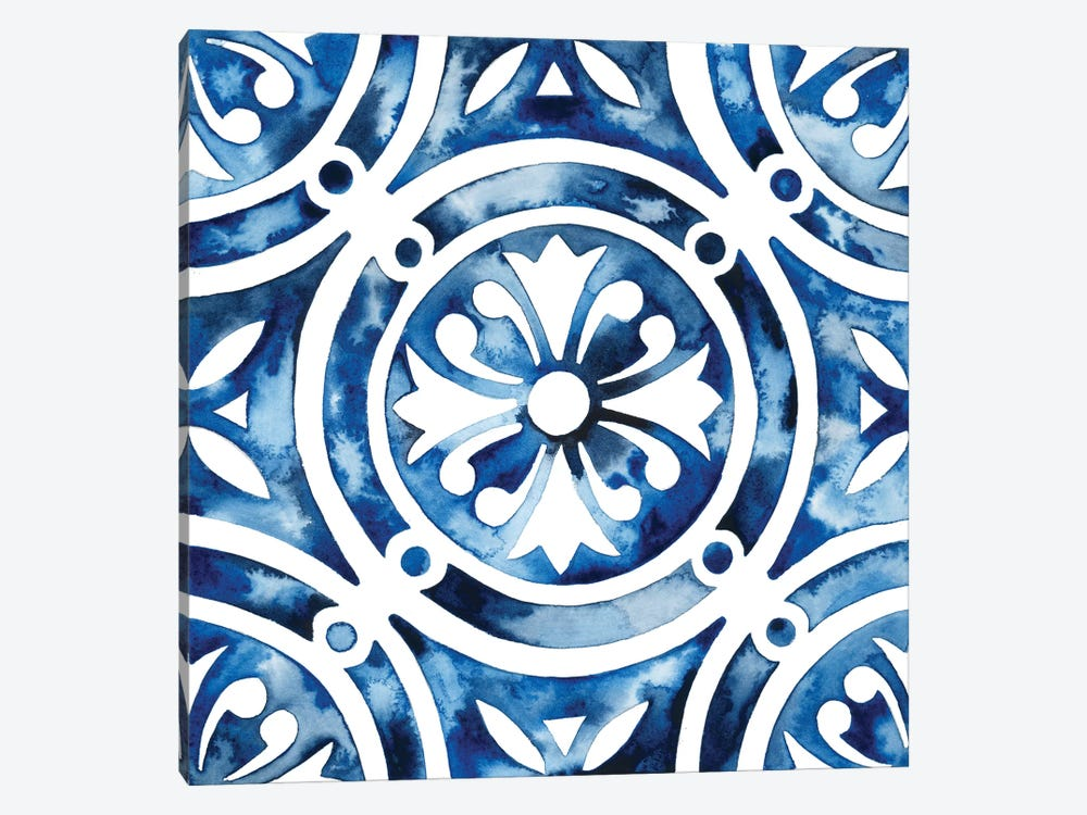 Cobalt Tile IV by Grace Popp 1-piece Canvas Artwork