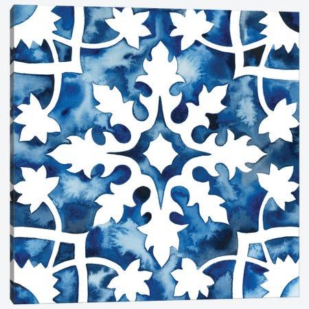 Cobalt Tile V Canvas Print #POP864} by Grace Popp Canvas Print