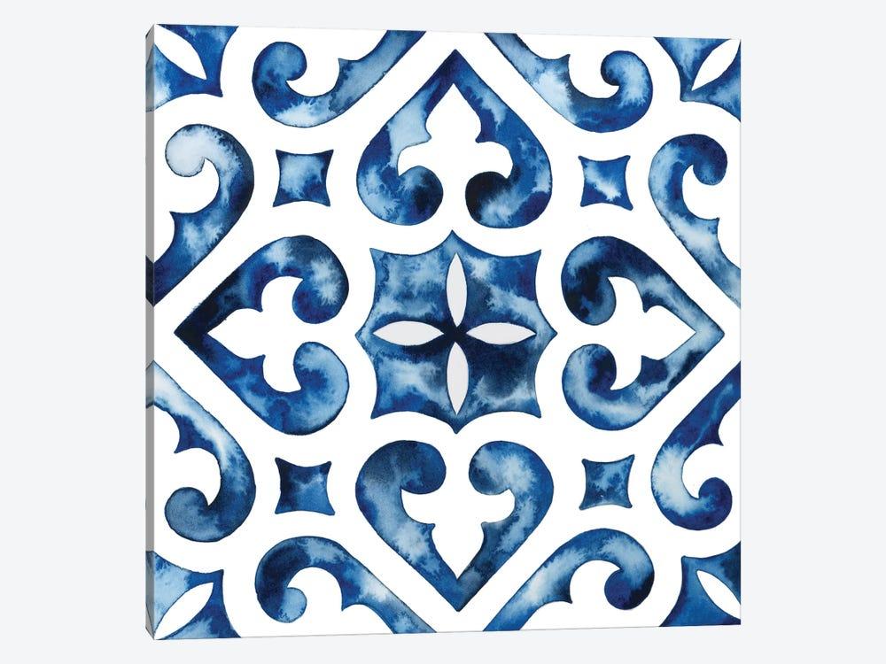 Cobalt Tile VI by Grace Popp 1-piece Canvas Wall Art