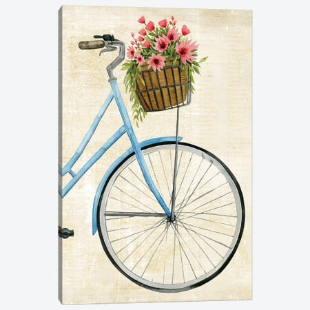 Courier Fleur II Canvas Print #POP869} by Grace Popp Canvas Artwork