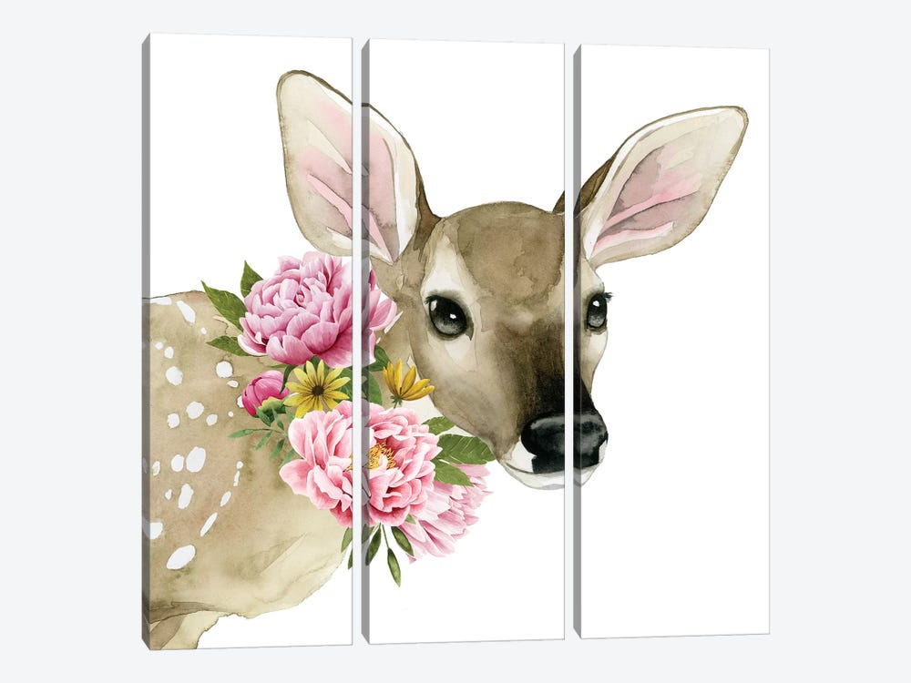 Deer Spring I by Grace Popp 3-piece Canvas Artwork