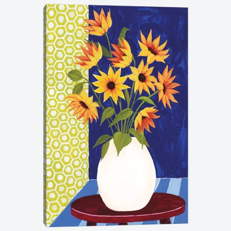 Flowers For Friday I 3-Piece Canvas #POP886} by Grace Popp Art Print