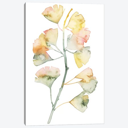 Maidenhair Branch II Canvas Print #POP919} by Grace Popp Canvas Artwork