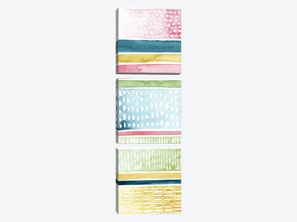 Pastel Strata I by Grace Popp 3-piece Canvas Art Print