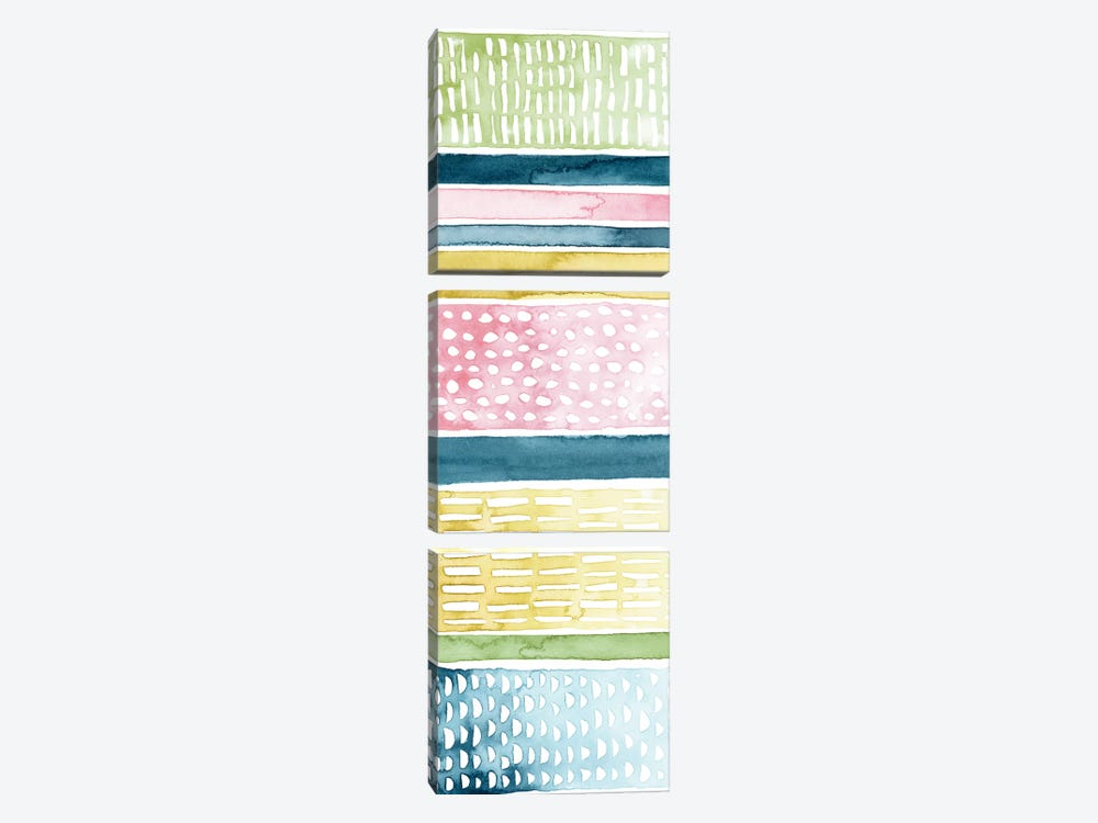 Pastel Strata II by Grace Popp 3-piece Canvas Artwork