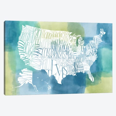 Patchwork USA Canvas Print #POP927} by Grace Popp Canvas Wall Art