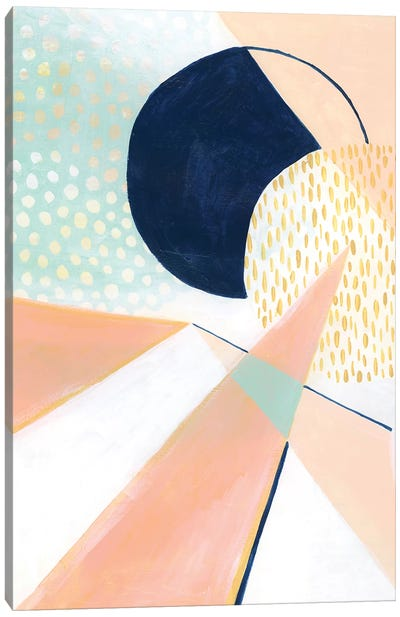Peach Eclipse II Canvas Art Print