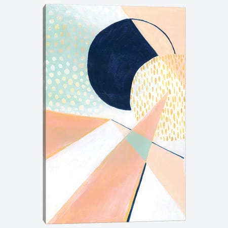 Peach Eclipse II 3-Piece Canvas #POP929} by Grace Popp Canvas Print
