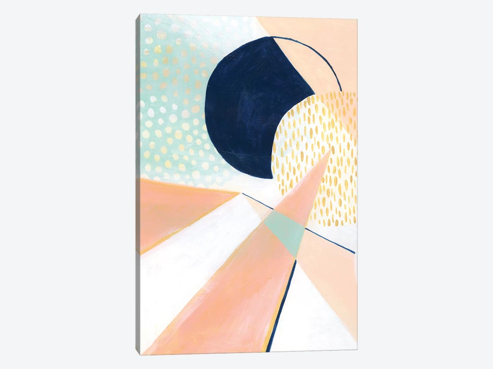 Peach Eclipse II by Grace Popp 1-piece Canvas Art Print