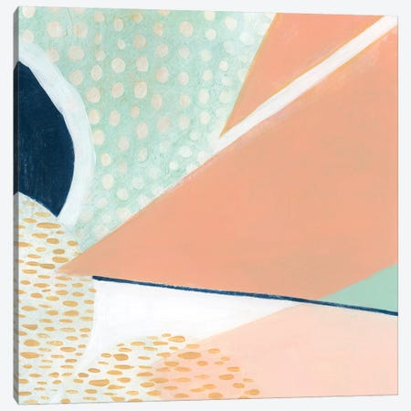 Peach Eclipse III Canvas Print #POP930} by Grace Popp Canvas Art