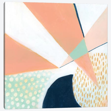 Peach Eclipse IV Canvas Print #POP931} by Grace Popp Canvas Artwork