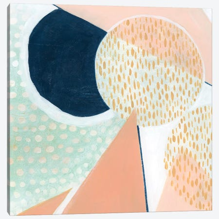 Peach Eclipse V Canvas Print #POP932} by Grace Popp Canvas Artwork