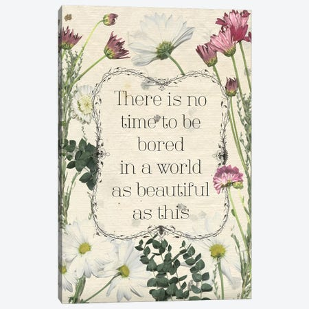 Pressed Floral Quote I Canvas Print #POP938} by Grace Popp Canvas Artwork