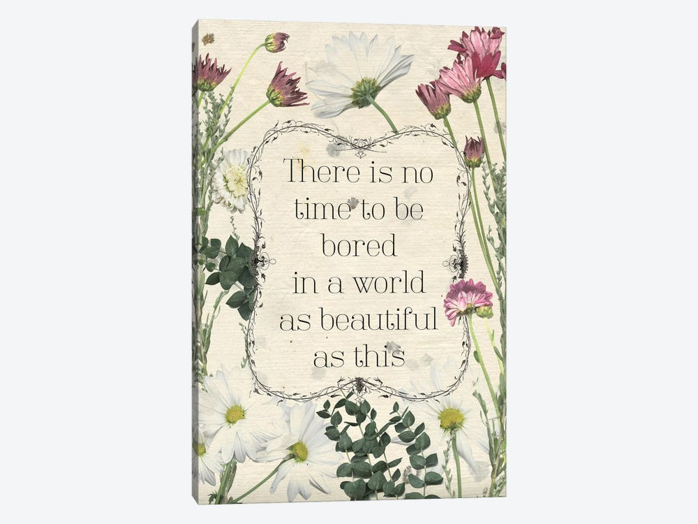 Pressed Floral Quote I by Grace Popp 1-piece Art Print