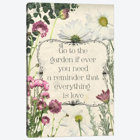 Pressed Floral Quote II Canvas Print #POP939} by Grace Popp Canvas Wall Art