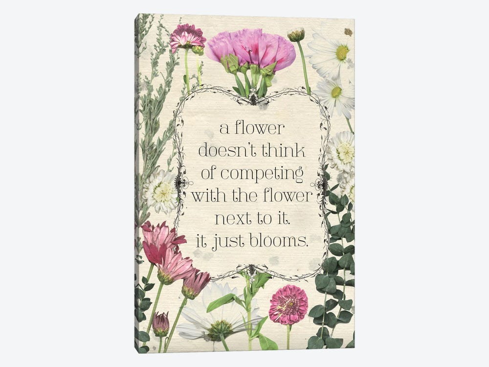 Pressed Floral Quote III by Grace Popp 1-piece Canvas Wall Art