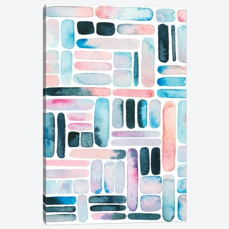 Prisma Puzzle II 3-Piece Canvas #POP942} by Grace Popp Art Print