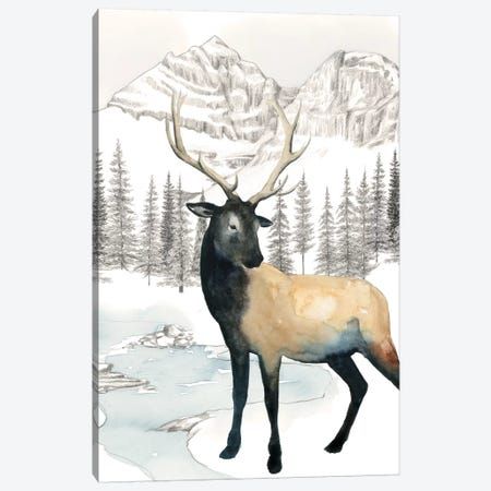 Winter Elk I Canvas Print #POP972} by Grace Popp Canvas Art
