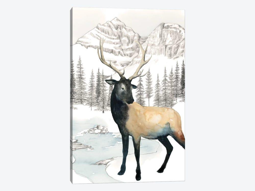 Winter Elk I by Grace Popp 1-piece Canvas Art Print