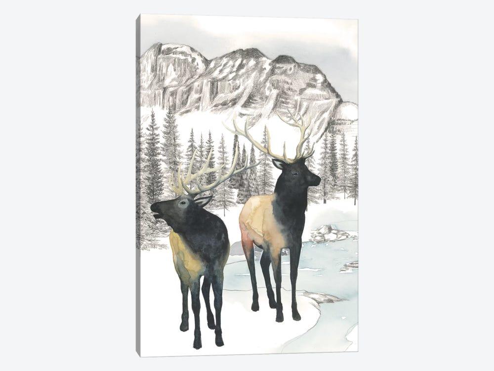Winter Elk II by Grace Popp 1-piece Canvas Art
