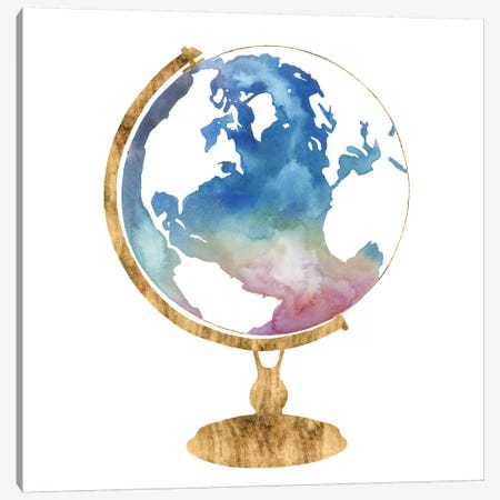 Adventure Globe I Canvas Print #POP978} by Grace Popp Canvas Artwork